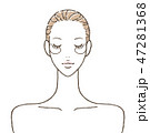 女性 スキンケア 白バックのイラスト 47281368