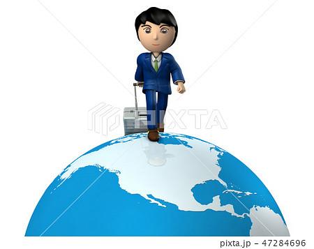 アフリカ出張中の若いビジネスマン 47284696