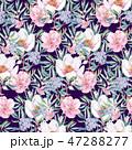 透明水彩 水彩画 花のイラスト 47288277