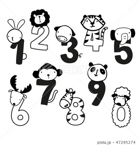 animals number vector design 47295274