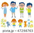 6人家族とペット 単体 47298763