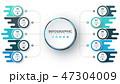 ビジネス 職業 インフォグラフィックのイラスト 47304009