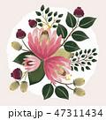 花束 フローラル フラワーのイラスト 47311434