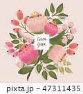 花束 フローラル フラワーのイラスト 47311435