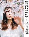女性 春 桜の写真 47317215