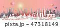 Travel landmark Asia with cityscape skyline. 47318149