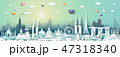 Travel landmarks Asia with cityscape skyline. 47318340