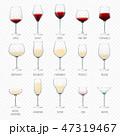 コップ ぶどう酒 ワインのイラスト 47319467