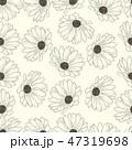 花 背景 カモミールのイラスト 47319698