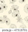 花 背景 カモミールのイラスト 47319701