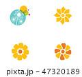 シンボルマーク フラワー 花のイラスト 47320189