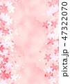 桜 フレーム 背景のイラスト 47322070
