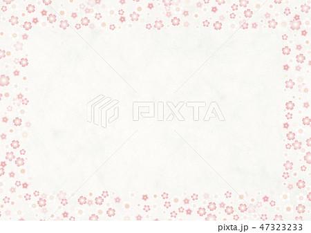 和紙の風合いを感じるイラスト 桜 47323233