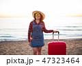 旅 旅行 スーツケースの写真 47323464