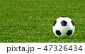 サッカーボール 芝生 サッカーのイラスト 47326434