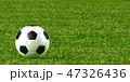 サッカーボール 芝生 サッカーのイラスト 47326436