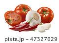 とまと トマト にんにくの写真 47327629