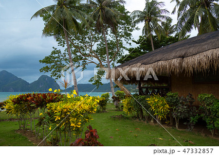 Tropical bungalow and wild beauty of El Nido, Philippines and amazing sea 47332857