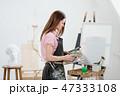 画伯 芸術家 アーティストの写真 47333108