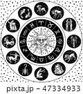 占星術 星占い 記号のイラスト 47334933