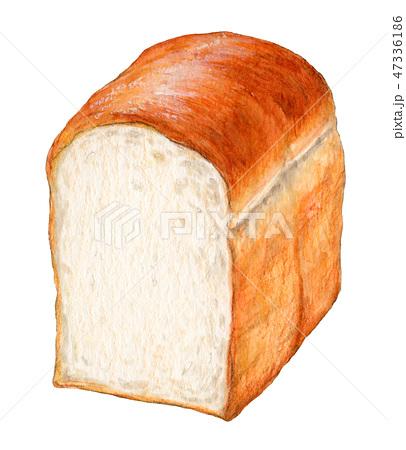 パン 山形食パン 手描き 水彩 47336186