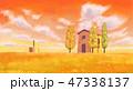 あき 秋 草原のイラスト 47338137