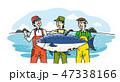 サカナ 魚 魚類のイラスト 47338166