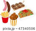 祭りの食べ物 47340506