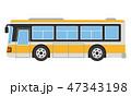 観光バス バス 自動車のイラスト 47343198