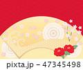和 扇 扇型のイラスト 47345498