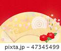 和 扇 扇型のイラスト 47345499