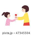 親子 母の日 プレゼントのイラスト 47345504