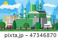 工場 製造所 エコのイラスト 47346870