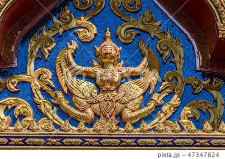 Buddhist temple Wat Kaew Manee Si Mahathat at sunny day in Phang Nga, Thailand 47347824