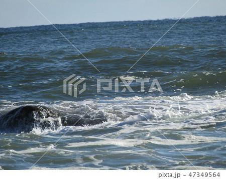 大洗海岸の白波 47349564