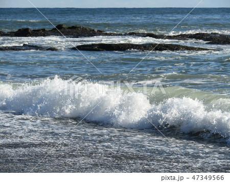 大洗海岸の白波 47349566