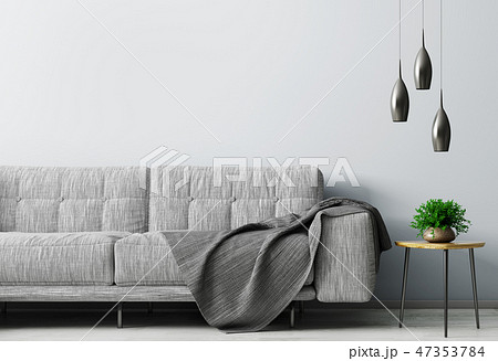 Interior of living room with sofa 3d rendering 47353784
