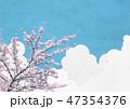 桜 青空 花のイラスト 47354376