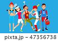 スポーツ ベクトル 人々のイラスト 47356738