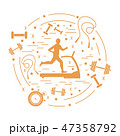 ジョギング フィットネス 健康のイラスト 47358792