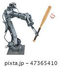 ロボットアーム ベースボール 白球のイラスト 47365410