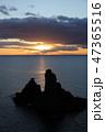 三王岩の日の出 47365516