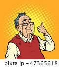 スマイル 老人 シニアのイラスト 47365618