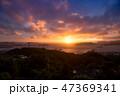 長崎 夕陽 風景の写真 47369341