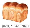 パン 食パン 山形食パンのイラスト 47369667