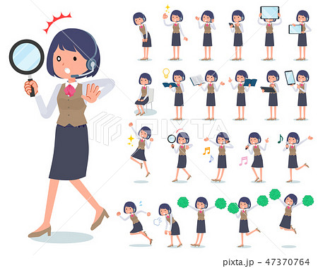 flat type Call center women_Action 47370764