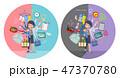 女性 テレアポ オペレーターのイラスト 47370780