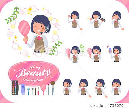 flat type Call center women_beauty 47370794