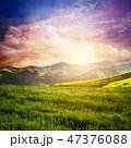 景色 風景 山脈の写真 47376088
