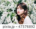 女性 ヘアスタイル 女の子の写真 47376892